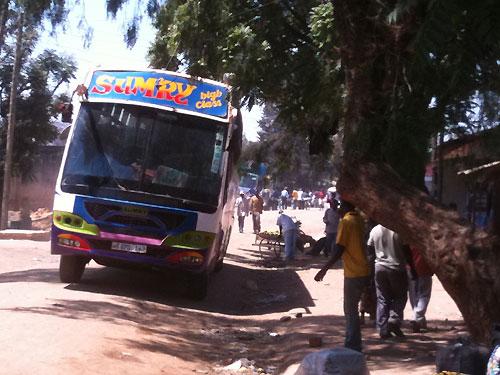 Bus in Tanzania.