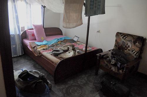 Zanzibar guest house room.