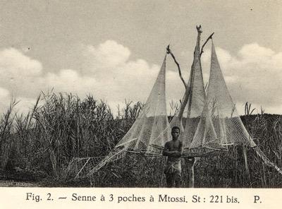 Pêche à la senne, senne à trois poches à Mtosi.