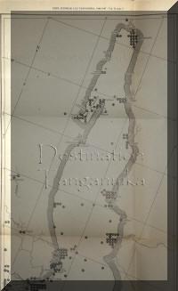 LE Tanganyika dans sa poartie nord, carte ancienne extraite de