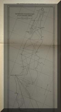 Parcour des échosondages du lac Tanganyika en 1946/47