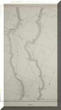Le lac Tanganyika sur une carte de 1946/47, expédition de Max Poll, exploration hydrobiologique du lac.