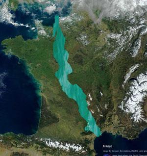 Lac Tanganyika, superposition avec la France.