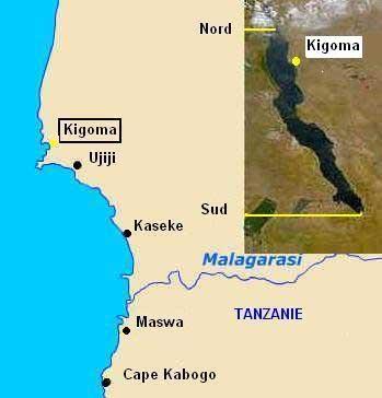 Carte de localisation de Tropheus duboisi de Kigoma.