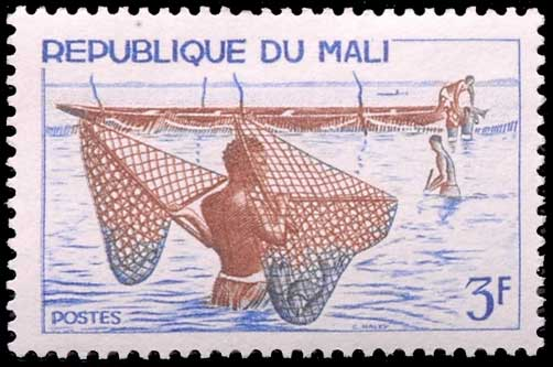 Pêche à l'épuisette république du Mali.