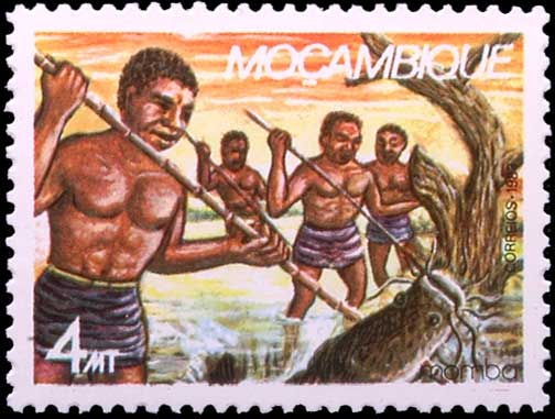 Pêches à la foëne au Moçambique (Mozambique)