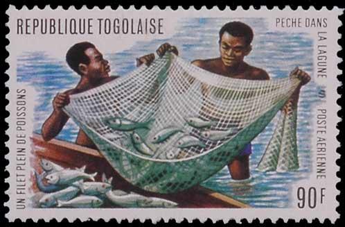 Pêche au filet au Togo.