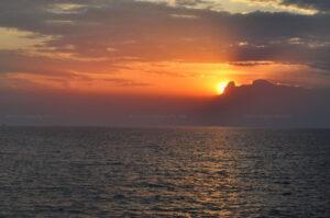 Couché de soleil sur le lac Tanganyika