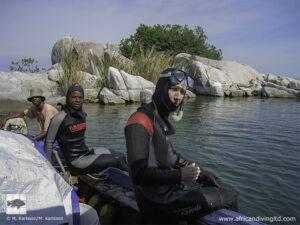 Plongeurs à Msalaba