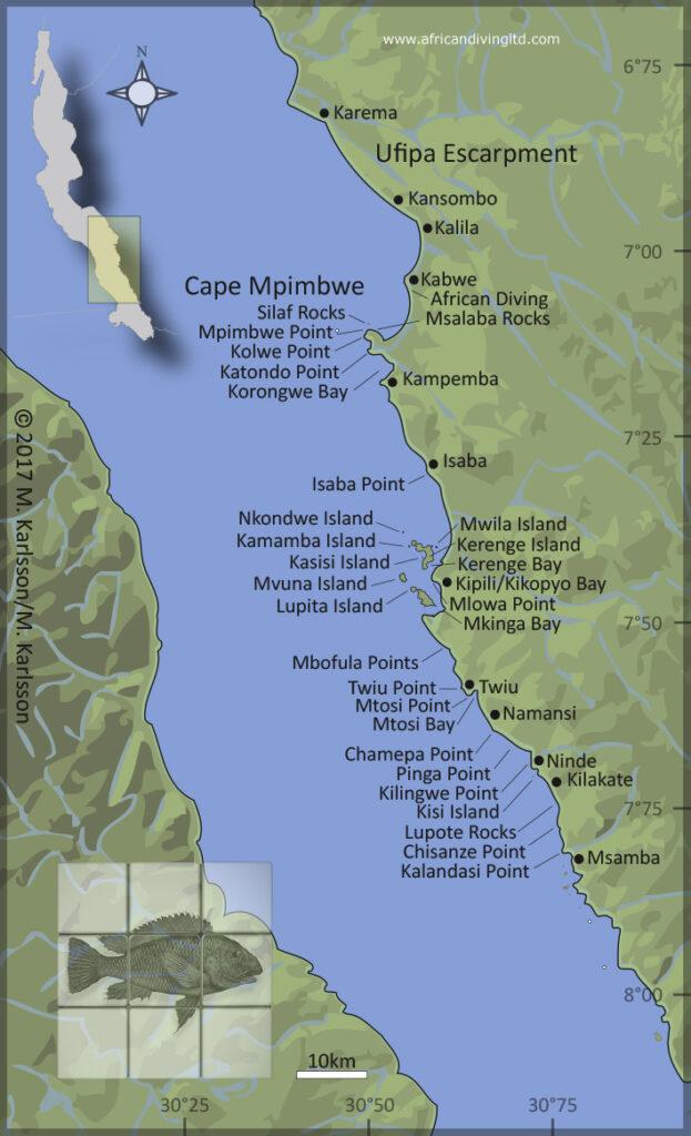 Kipili area map